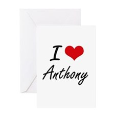 I Love Anthony Greeting Cards