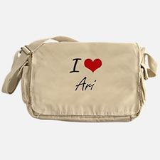 I Love Ari Messenger Bag