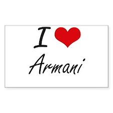 I Love Armani Decal