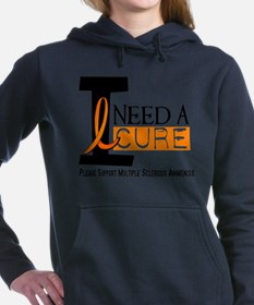 Unique Ms support and Women's Hooded Sweatshirt