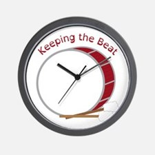Keeping The Beat Wall Clock