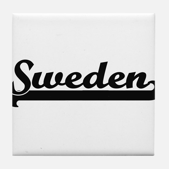 Sweden Classic Retro Design Tile Coaster