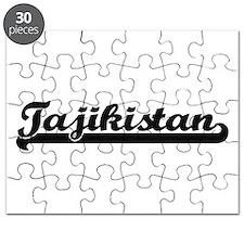Tajikistan Classic Retro Design Puzzle