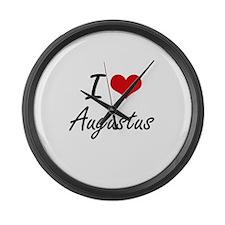 I Love Augustus Large Wall Clock