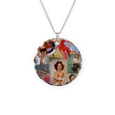 Pin up Collage Necklace