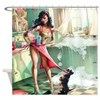 Pin up Girl In Kitchen Shower Curtain