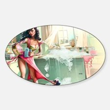 Pin up Girl In Kitchen Decal