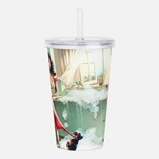 Pin up Girl In Kitchen Acrylic Double-wall Tumbler