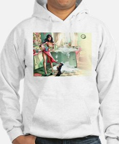 Pin up Girl In Kitchen Jumper Hoody