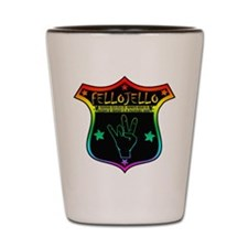 Hand Jive in Color Shot Glass
