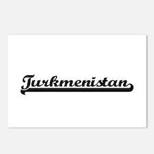 Turkmenistan Classic Retr Postcards (Package of 8)