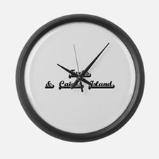 Turks & Caicos Island Classic Ret Large Wall Clock
