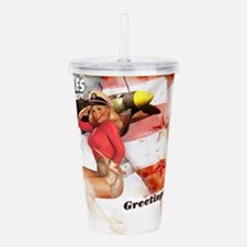 WW2 Pinup Girl Acrylic Double-wall Tumbler