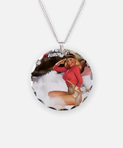WW2 Pinup Girl Necklace