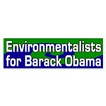 Environmentalists for Obama sticker