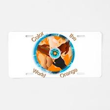 Color the World Orange CRPS Aluminum License Plate