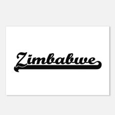 Zimbabwe Classic Retro De Postcards (Package of 8)