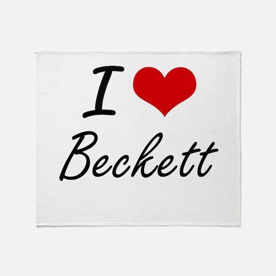 I Love Beckett Throw Blanket
