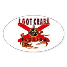 I GOT CRABS in FLORIDA Decal