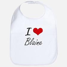 I Love Blaine Bib