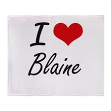 I Love Blaine Throw Blanket