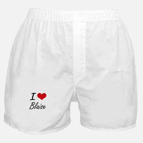 I Love Blaise Boxer Shorts