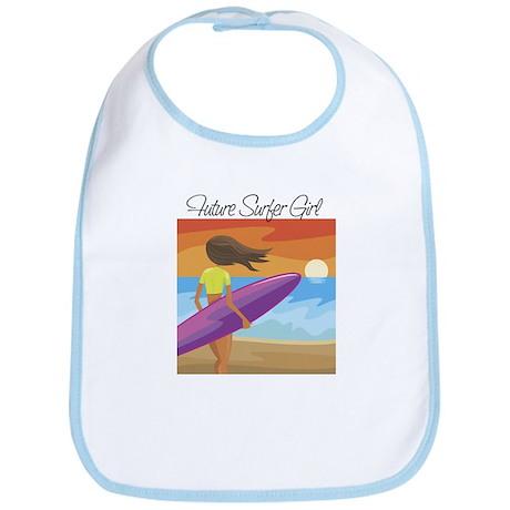 Future Surfer Girl Baby Bib
