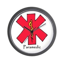 Paramedic Medical Symbol Wall Clock