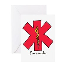 Paramedic Medical Symbol Greeting Card