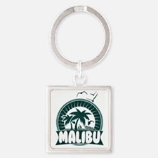 Malibu California Square Keychain