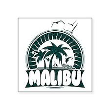 """Malibu California Square Sticker 3"""" x 3"""""""