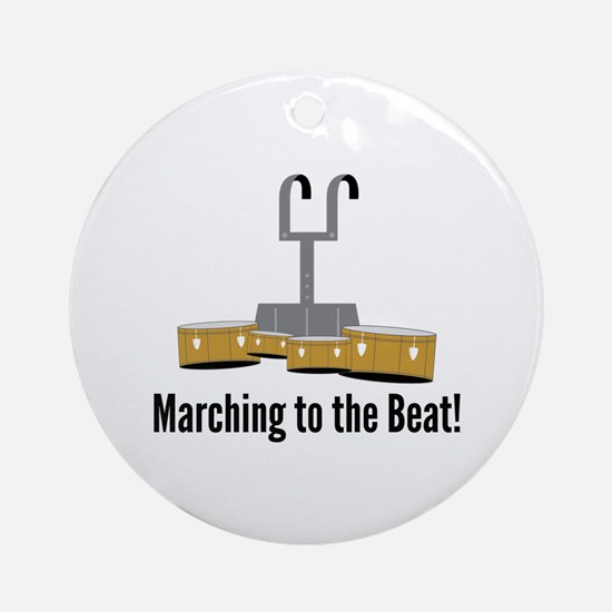Marching Beat Round Ornament