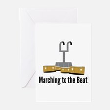 Marching Beat Greeting Cards