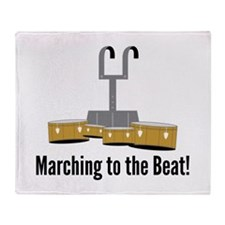 Marching Beat Throw Blanket