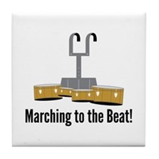 Marching Beat Tile Coaster