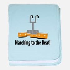 Marching Beat baby blanket