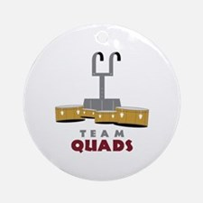 Team Quads Round Ornament