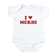 I LOVE MEKHI Infant Bodysuit