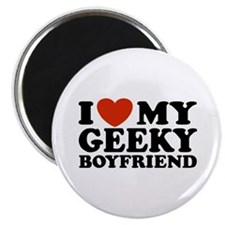 I Love My Geeky Boyfriend Magnet