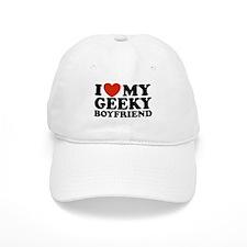 I Love My Geeky Boyfriend Baseball Cap