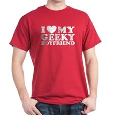 I Love My Geeky Boyfriend T-Shirt
