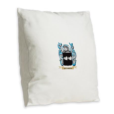 Cathrow Coat of Arms - Family Burlap Throw Pillow