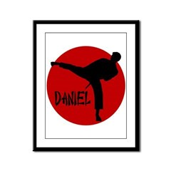 Daniel Martial Arts Framed Panel Print
