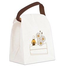 Daisy Field Canvas Lunch Bag