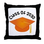 2030 orange hat david.png Throw Pillow