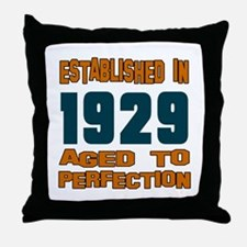 Established In 1929 Throw Pillow