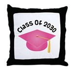 2030 pink hat david.png Throw Pillow