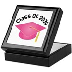2030 pink hat david.png Keepsake Box