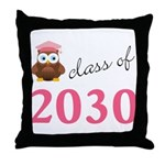 2030 pink owl.png Throw Pillow
