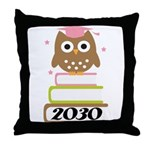 2030 Graduation Class Owl Throw Pillow